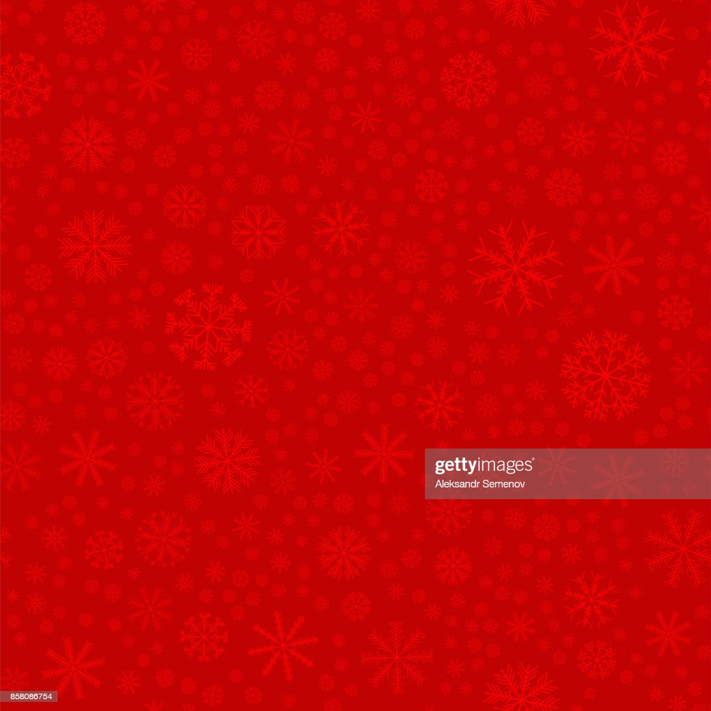 Seamless colored snowflakes pattern. Snowflakes background. Vector illustration