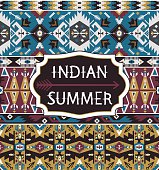 Seamless colorful pattern  in navajo style