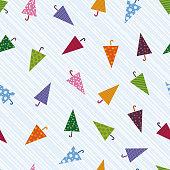 Seamless colorful umbrella pattern