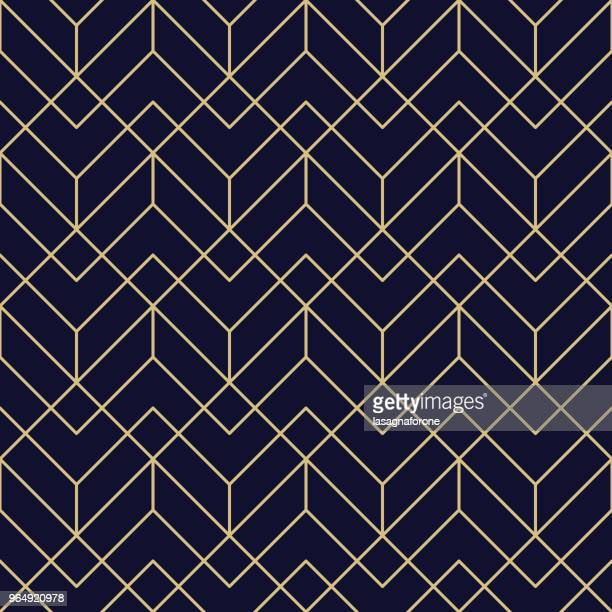 seamless geometric pattern - retro style stock illustrations