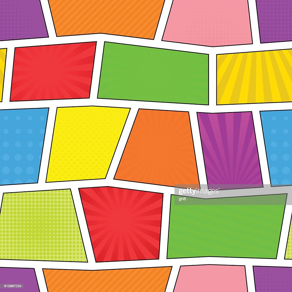 Seamless comic pattern