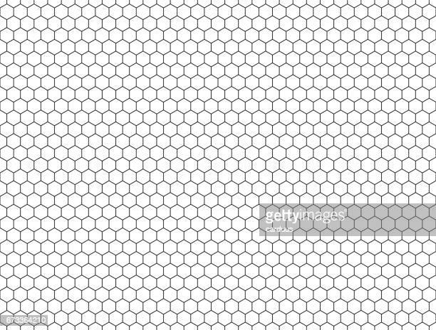 seamless contour  hexagon background - grid pattern stock illustrations