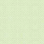 Seamless cross pattern in green color made of circles. Inspired of banknote, money design, currency, note, check or cheque, ticket, reward. Watermark security. Vector.