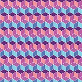 Seamless cube flat color background