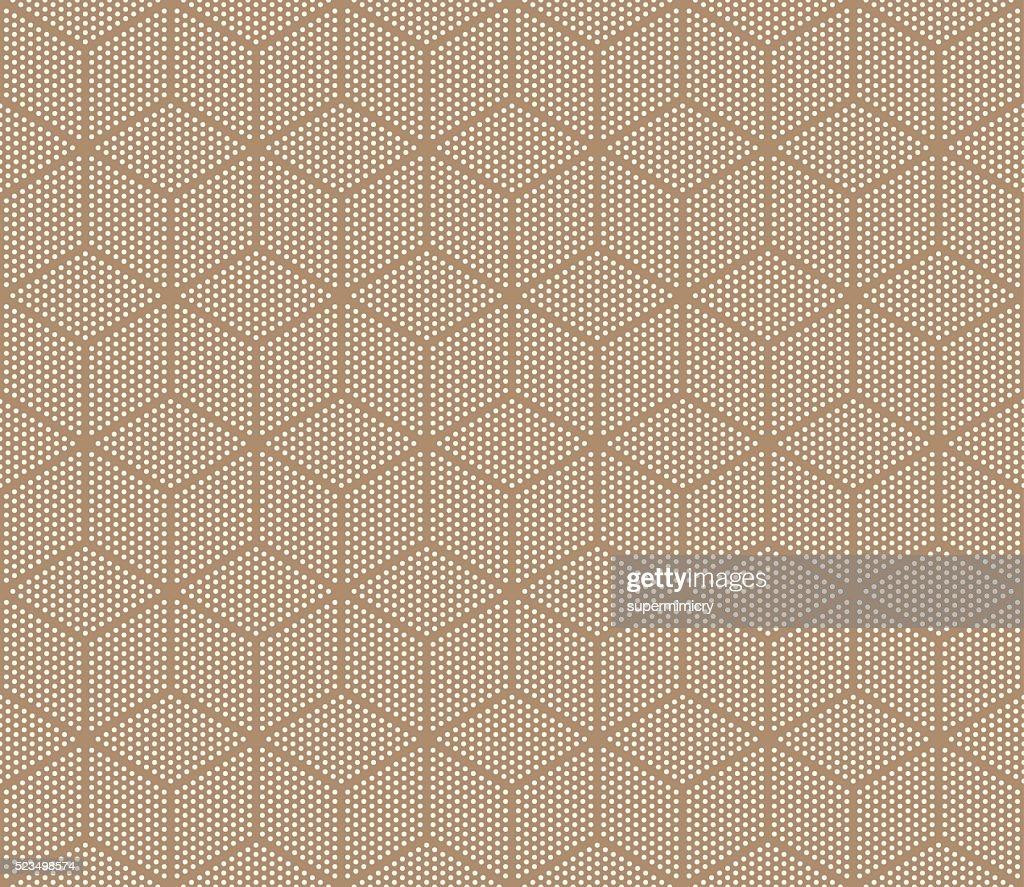 seamless cube pattern of dots.
