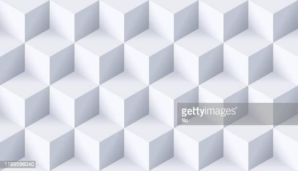 シームレスキューブの背景 - ブロック型点のイラスト素材/クリップアート素材/マンガ素材/アイコン素材