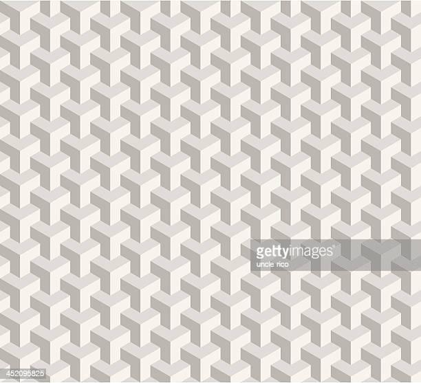 Nahtlose Kubismus Grau