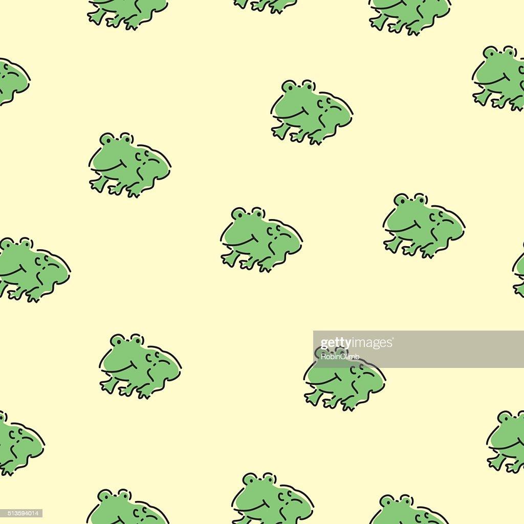 Seamless Cute Frogs Pattern