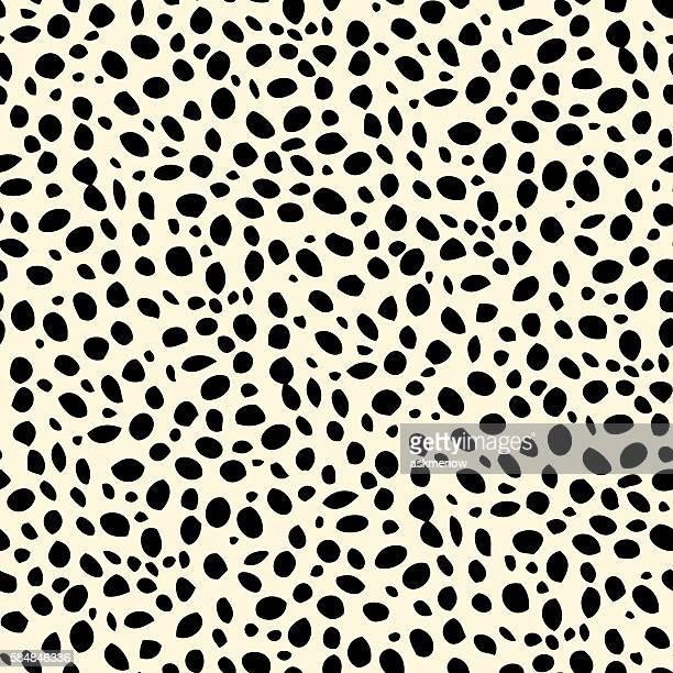 Seamless dalmatian spotted skin pattern