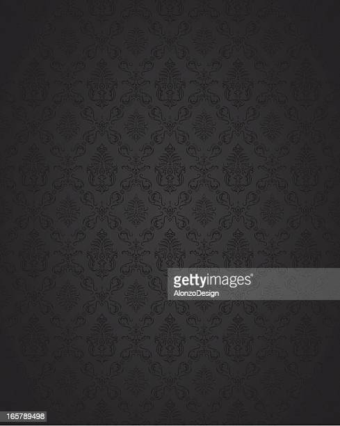 seamless damask background - victorian wallpaper stock illustrations