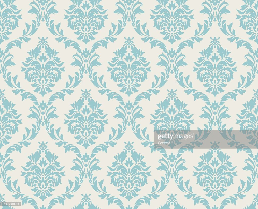 Seamless damask pattern done in light blue