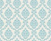 Seamless damask pattern done in light blue