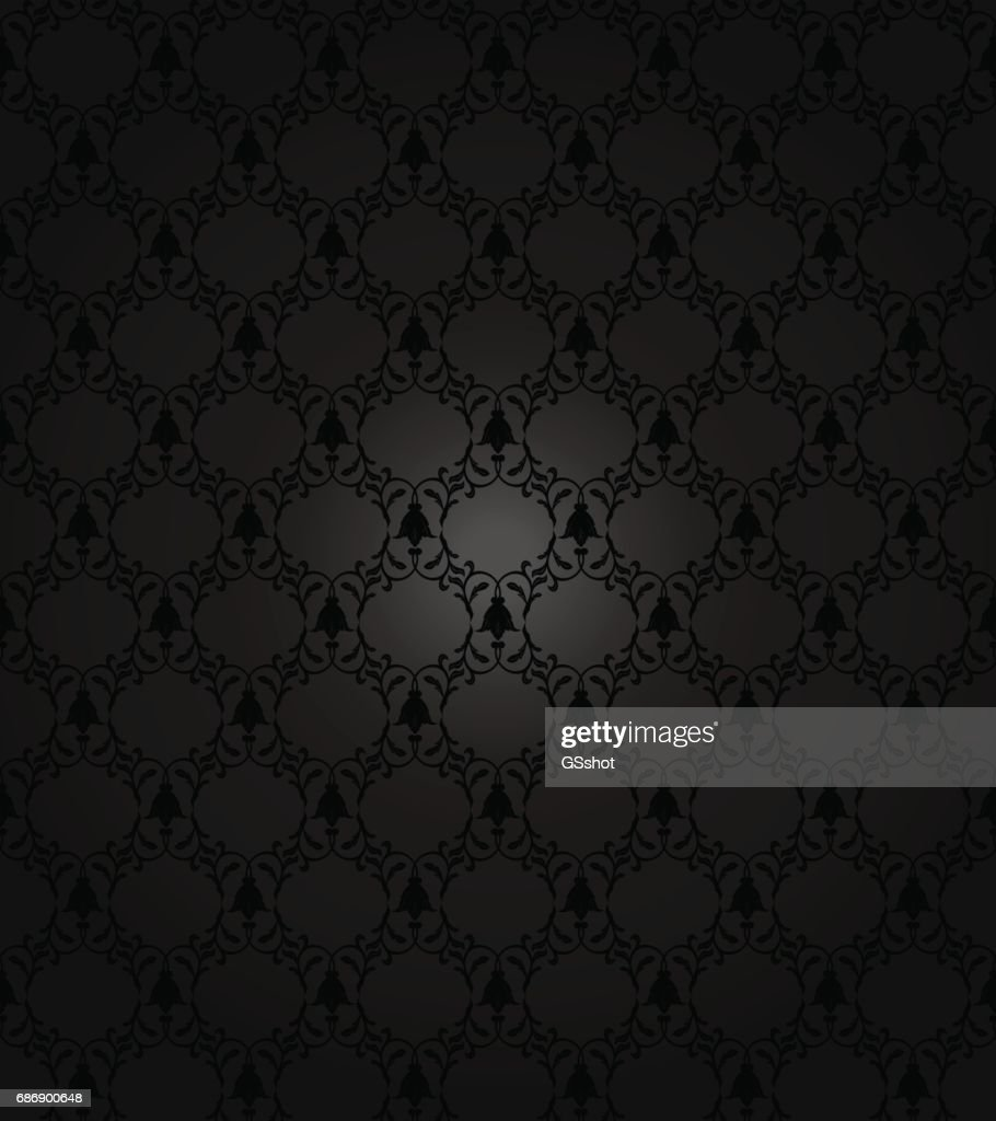 seamless damask pattern in dark