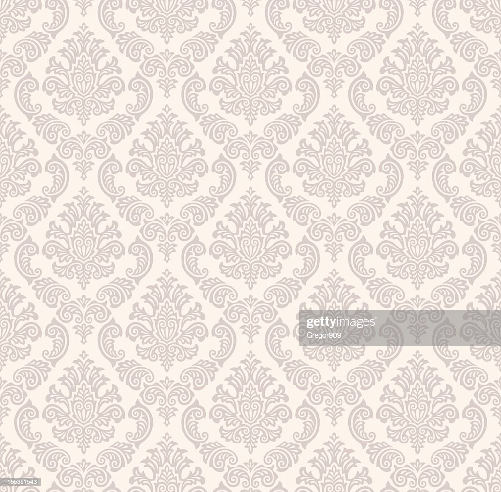 Seamless damask pattern in light colors