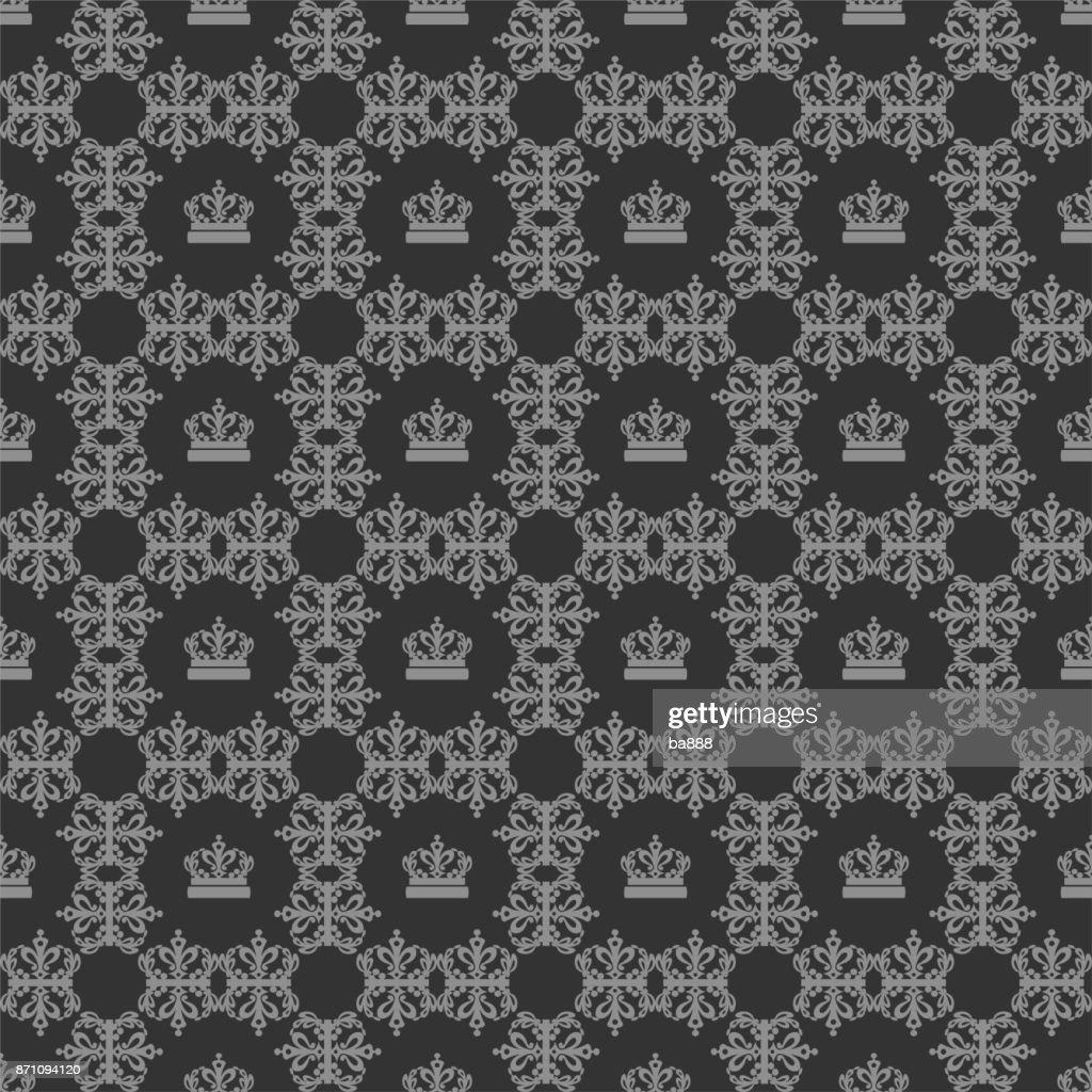Seamless Damask Wallpaper Background