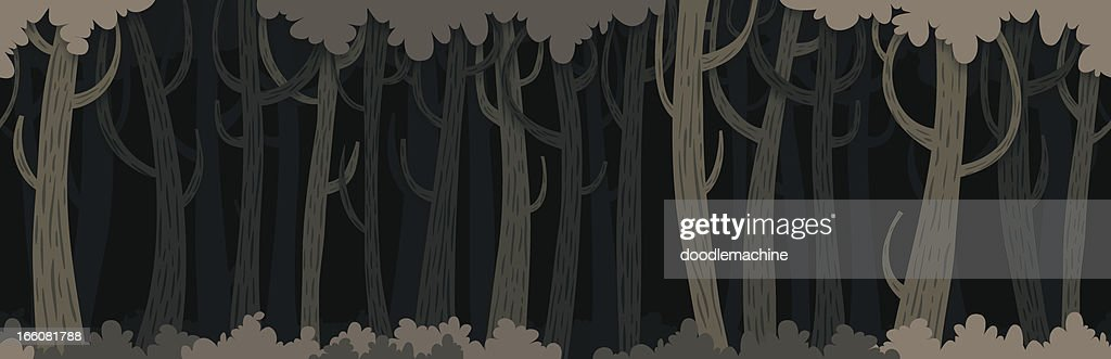 Seamless Dark Forest Background