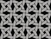 Seamless decorative pattern of intersected fiber. Vector Illustration