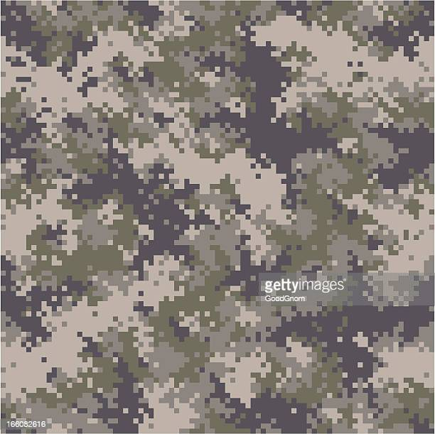 seamless digital camouflage - camouflage stock illustrations