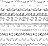 Seamless Doodle Border and Frame Elements two