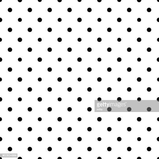 seamless dots pattern - polka dot stock illustrations