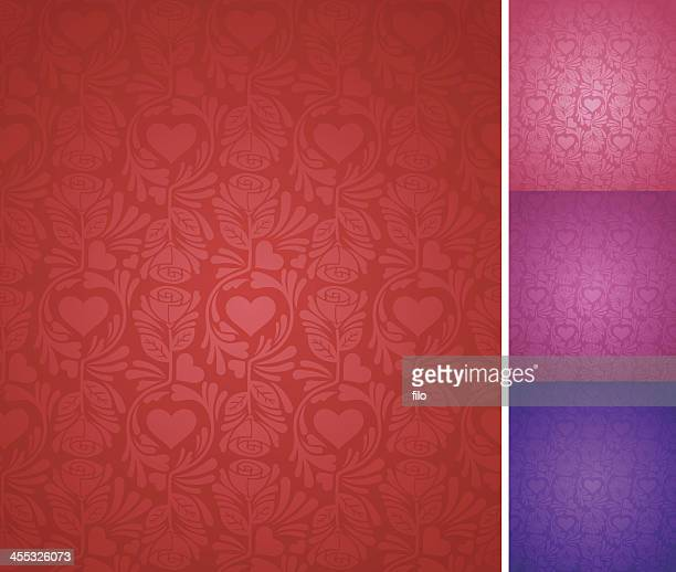 seamless elegant valentine's day background - flirting stock illustrations, clip art, cartoons, & icons