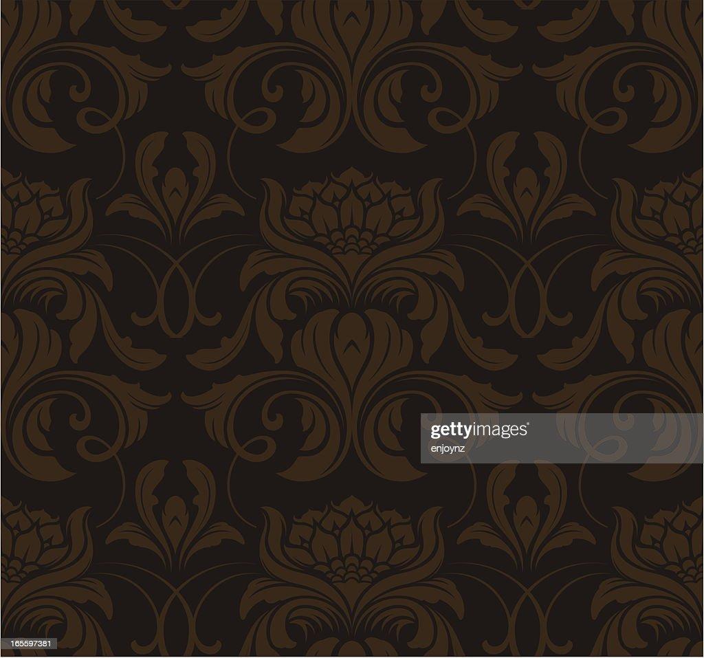 Seamless Elegant Wallpaper Background Stock Vector Getty