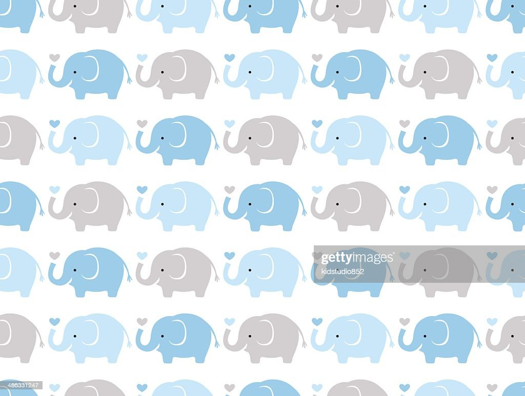 seamless elephants pattern