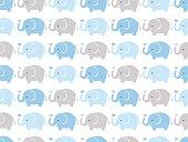 seamless elephants pattern