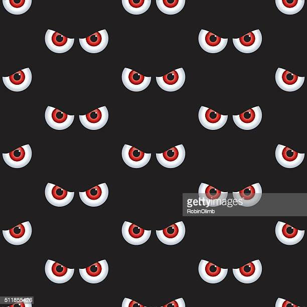 Seamless Evil Eyes Pattern