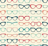seamless eyeglasses pattern