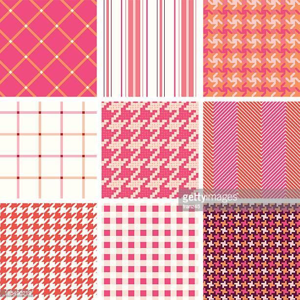 ファブリックシームレスなパターン - 千鳥格子点のイラスト素材/クリップアート素材/マンガ素材/アイコン素材