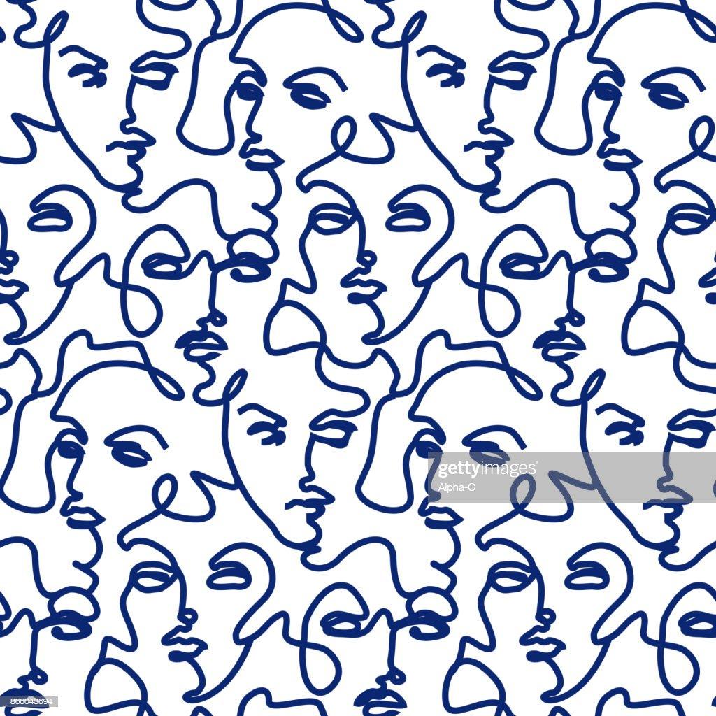 Seamless face pattern