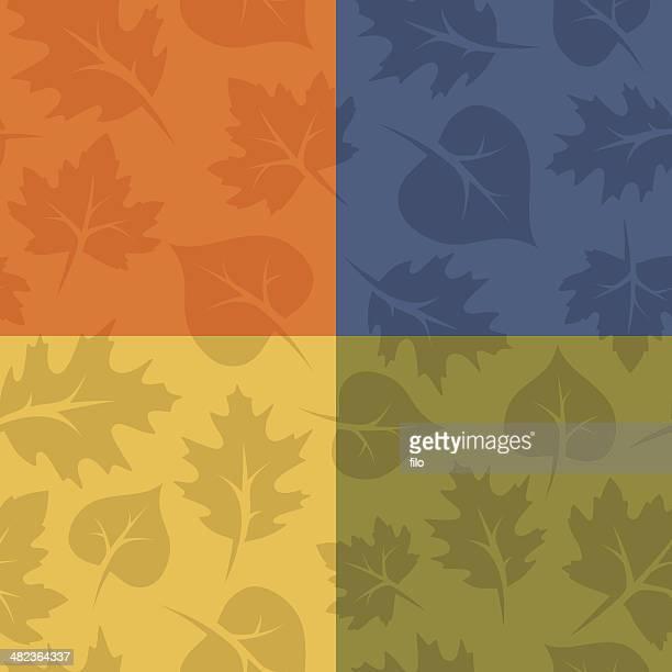 illustrazioni stock, clip art, cartoni animati e icone di tendenza di senza soluzione di continuità con foglie di autunno - cambiare colore