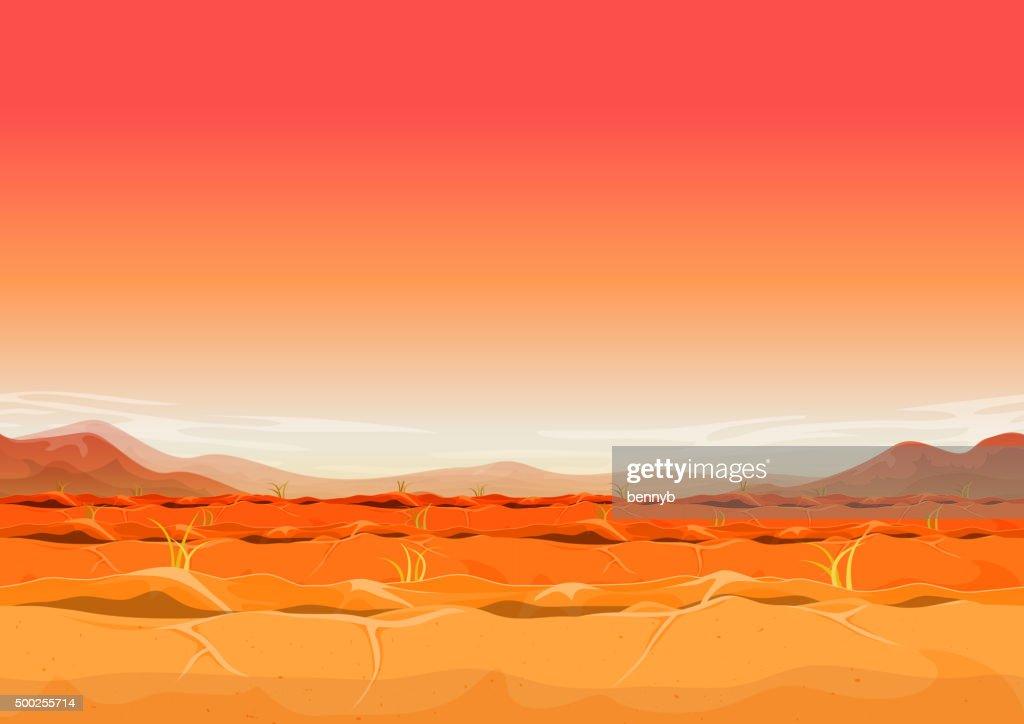 Seamless Far West Desert Landscape For Ui Game