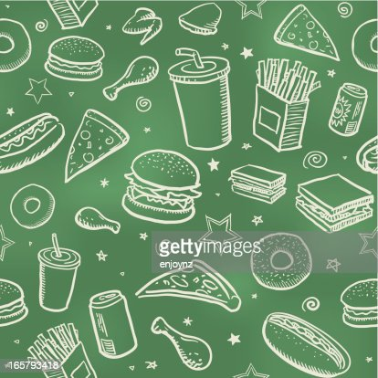 Seamless fast food background