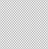 Seamless Fence pattern. Connection of protective grid elements. Vector