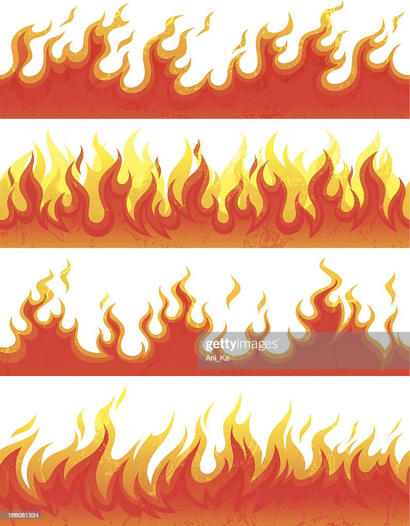 Seamless flame with grunge : stock illustration