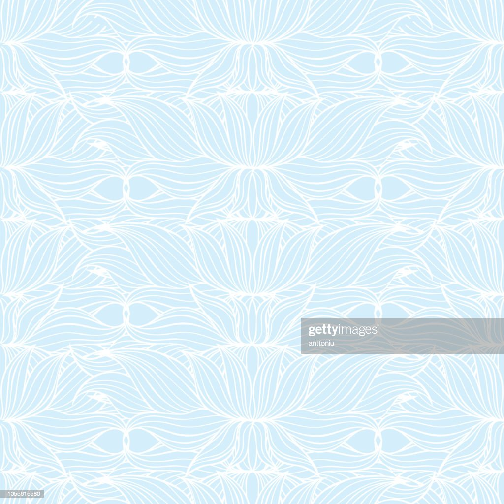 Seamless floral background pattern, nature theme