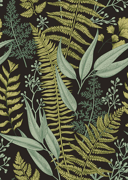 Seamless floral pattern in vintage style.