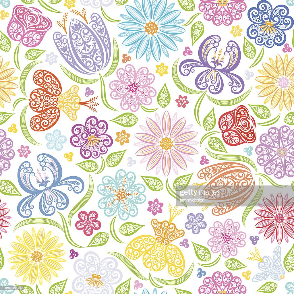 Seamless Floral Pattern : Vector Art
