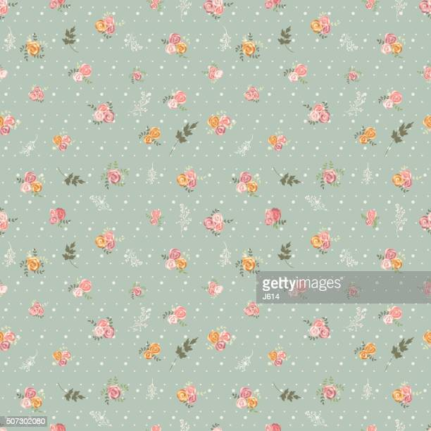 seamless floral pattern - victorian wallpaper stock illustrations