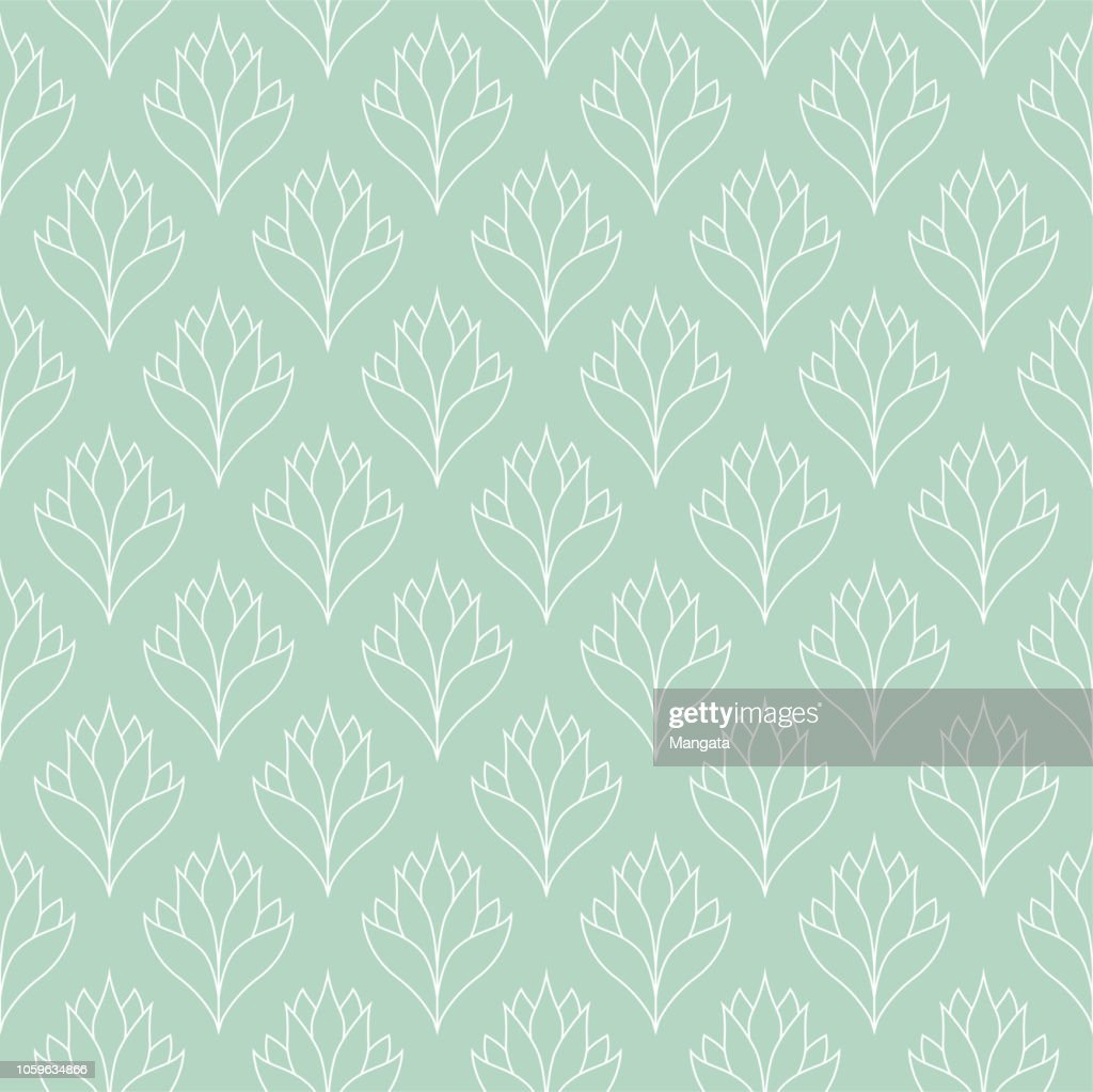 Seamless Floral Pattern. Vector Ornament Background. Abstract Vintage Texture.