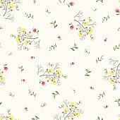 Seamless floral pattern, vintage background