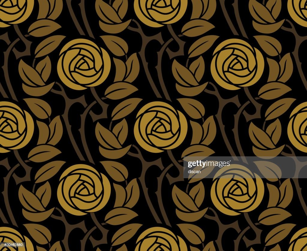Seamless floral rose pattern : stock illustration