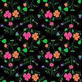 Seamless floral textile pattern