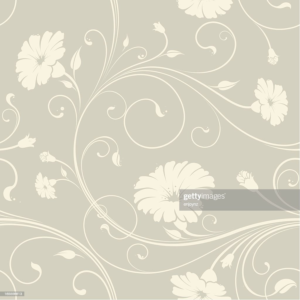 Seamless Floral Wallpaper Background High Res Vector Graphic