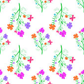 Seamless flowered background for design
