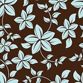 seamless flowers pattern