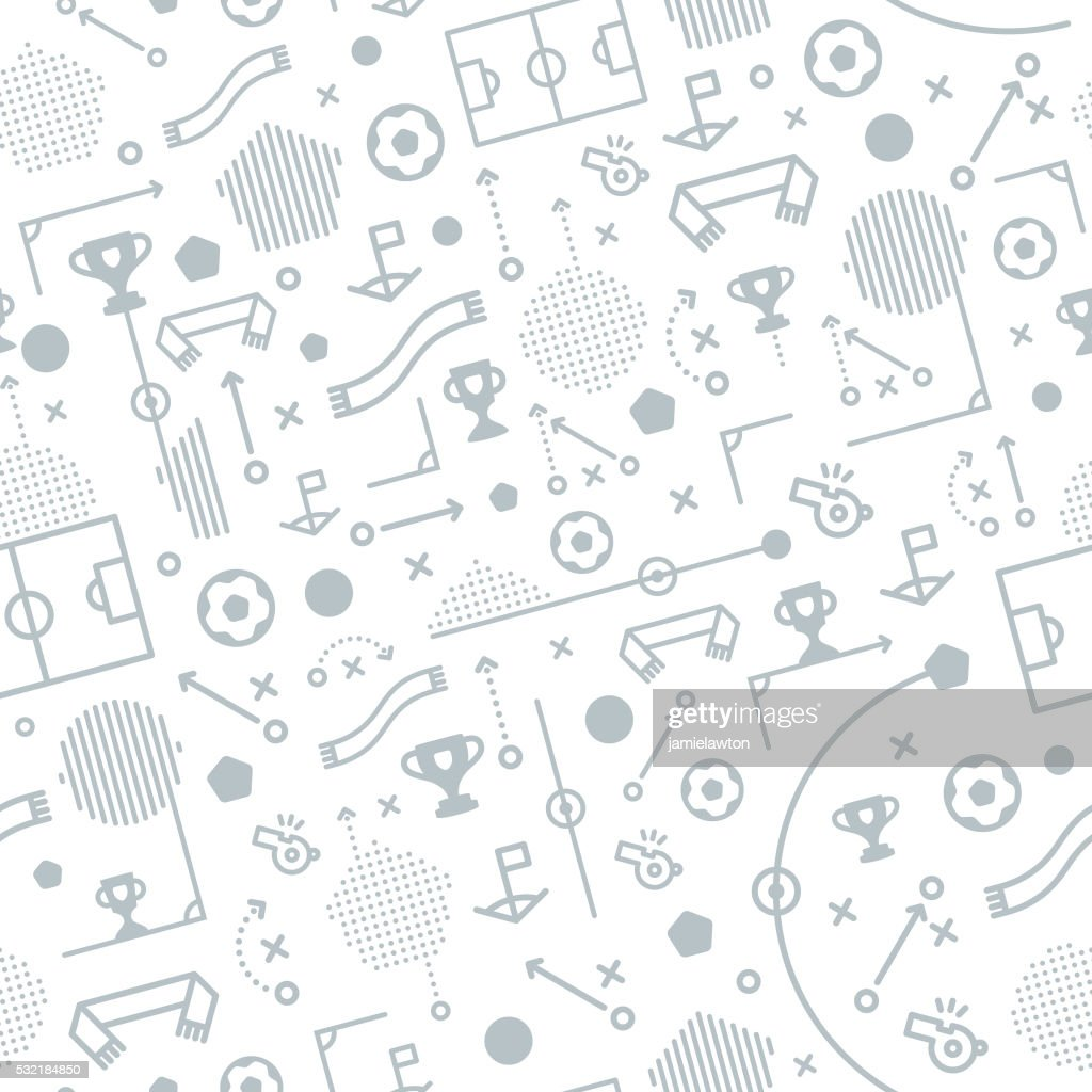 Seamless Football Soccer Pattern Background
