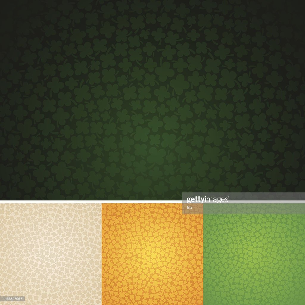 Seamless Four-Leaf Clover Background